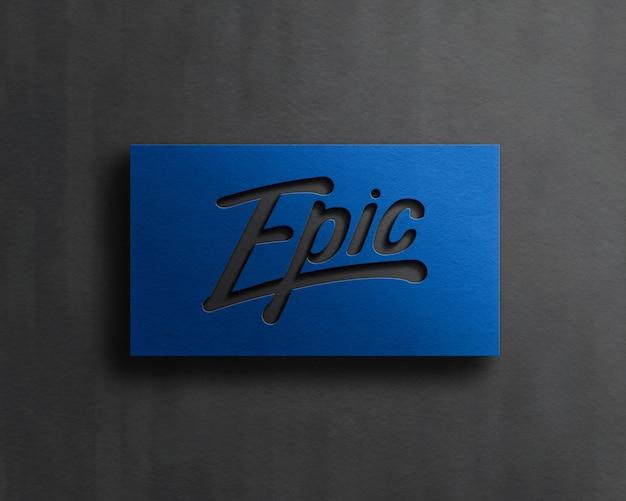 Maquete de logotipo moderno com efeito de relevo
