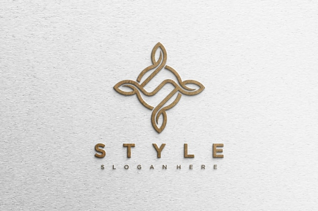Maquete de logotipo moderno simples