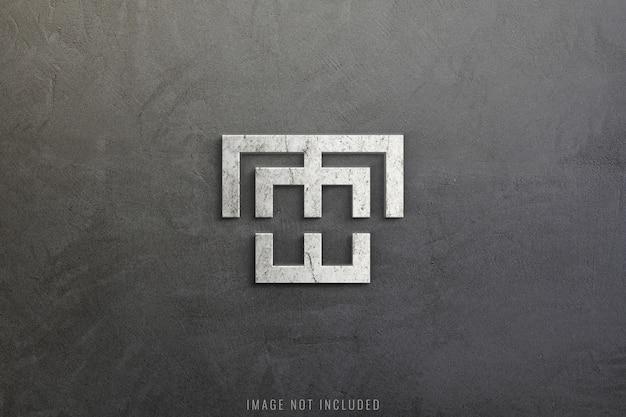 Maquete de logotipo na textura de concreto