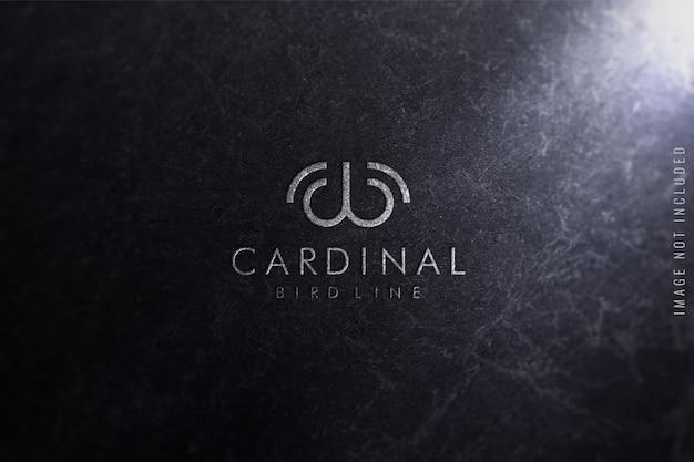 Maquete de logotipo na textura de mármore