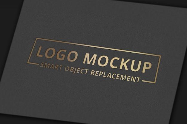 Maquete de logotipo no cartão