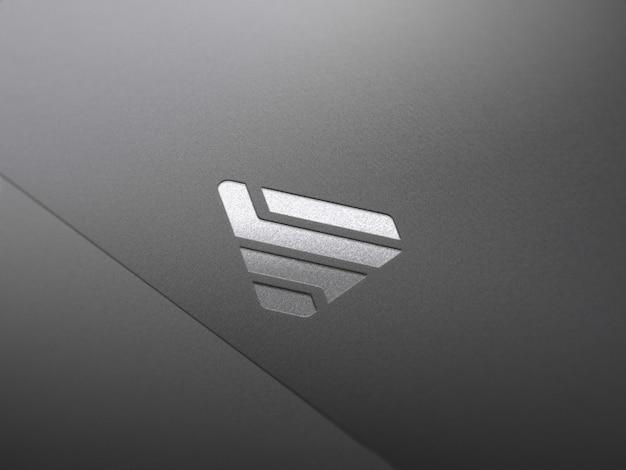 Maquete de logotipo prata e ouro