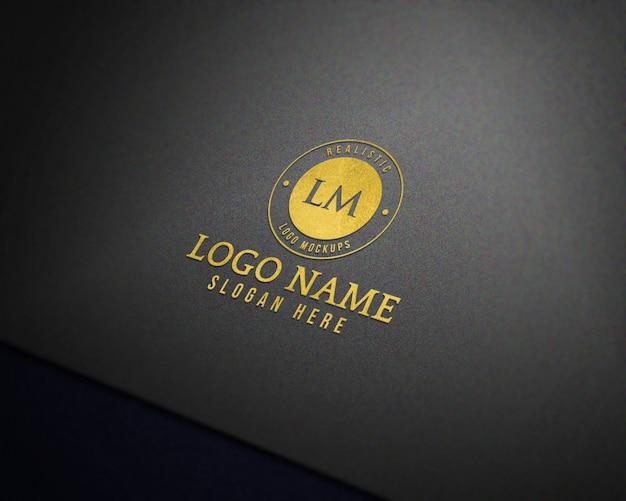 Maquete de logotipo realista 3d moderno