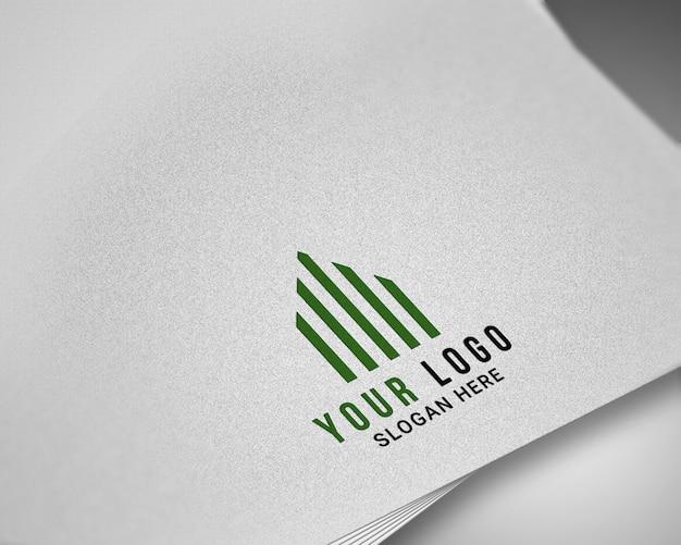 Maquete de logotipo realista moderna
