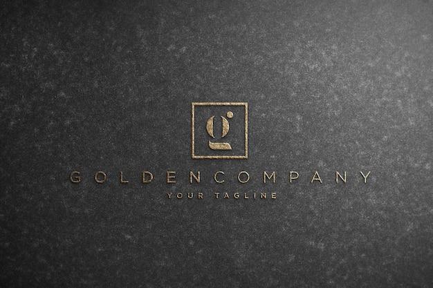 Maquete de logotipo realista