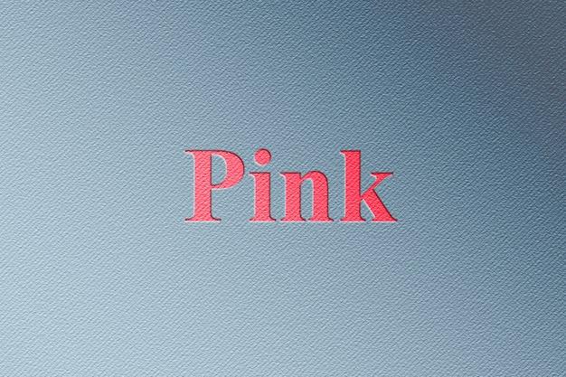 Maquete de logotipo rosa