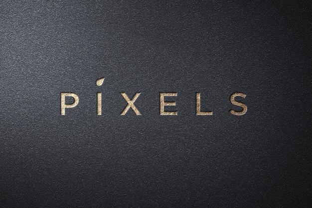 Maquete de logotipo simples de luxo