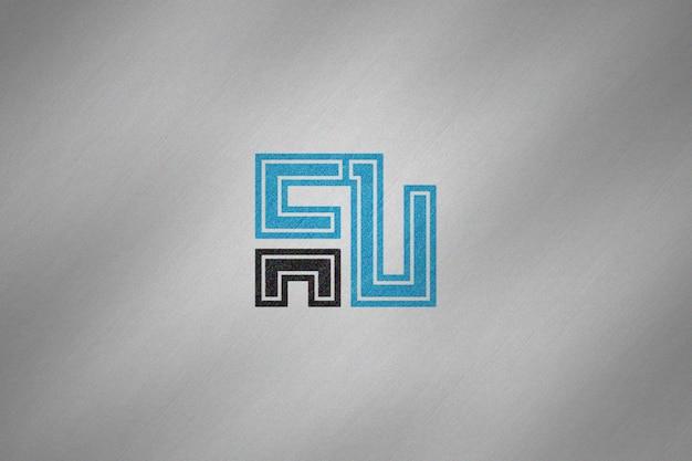 Maquete de logotipo simples