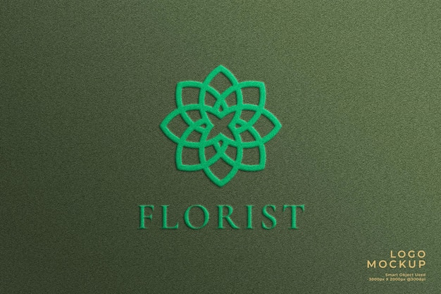Maquete de logotipo texturizado de luxo
