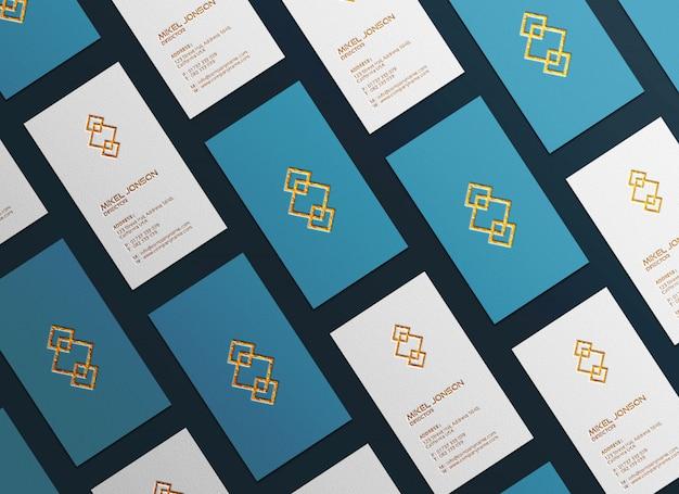 Maquete de logotipo vertical multi estilos de cartão de visita