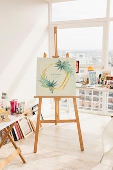 Maquete de lona com conceito de arte