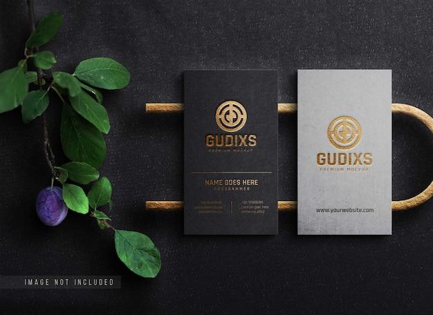 Maquete de luxo cartão de visita com logotipo