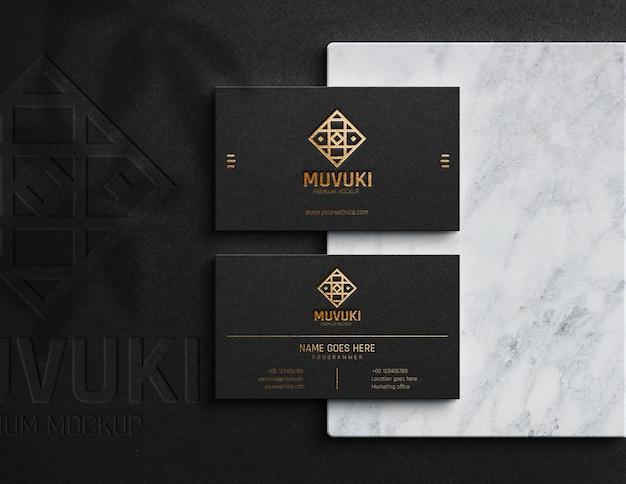 Maquete de luxo de cartão de visita