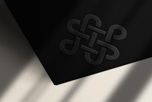 Maquete de luxo em relevo com superfície branca
