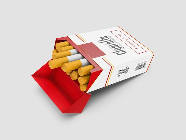 Maquete de maço de cigarro