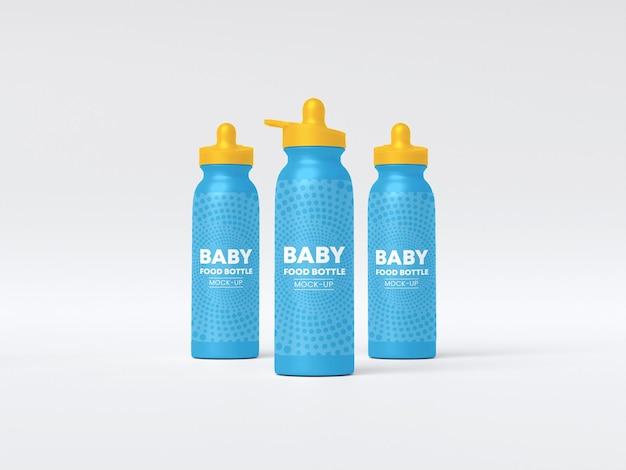 Maquete de mamadeira para bebê