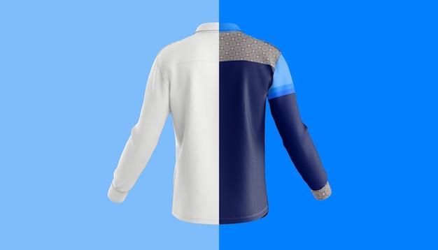 Maquete de manga comprida nas costas da camisa