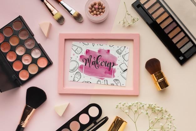 Maquete de maquiagem estilo de vida beleza