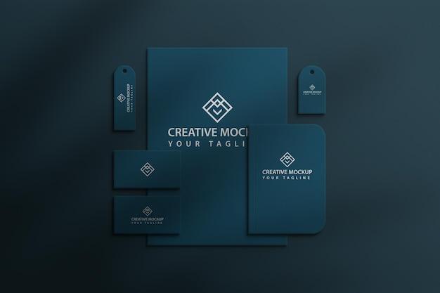 Maquete de marca da empresa premium