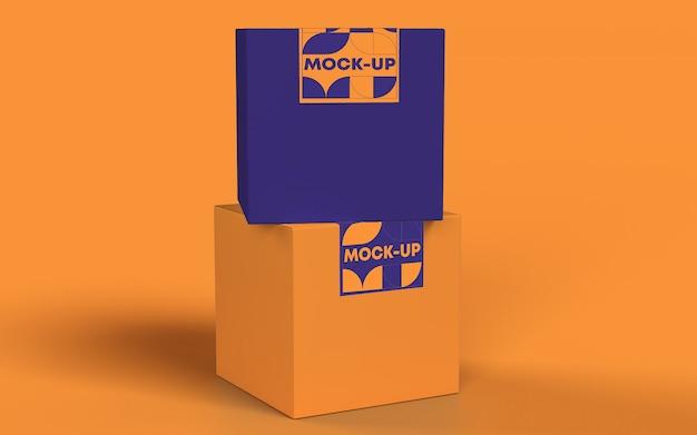 Maquete de marca de caixa psd