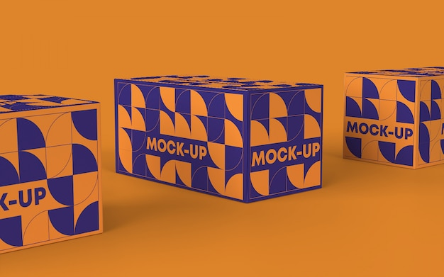 Maquete de marca de caixa