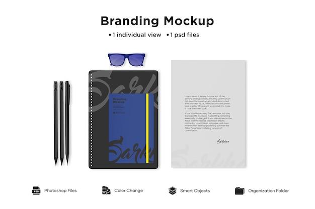 Maquete de marca de equipamento de escritório