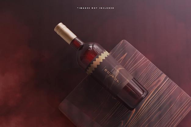 Maquete de marca de garrafa de vinho