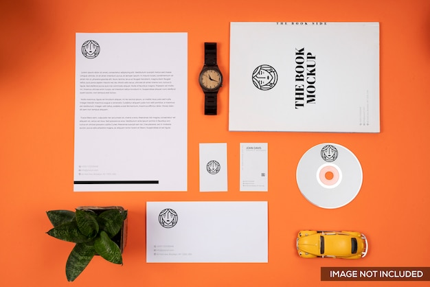 Maquete de marca laranja