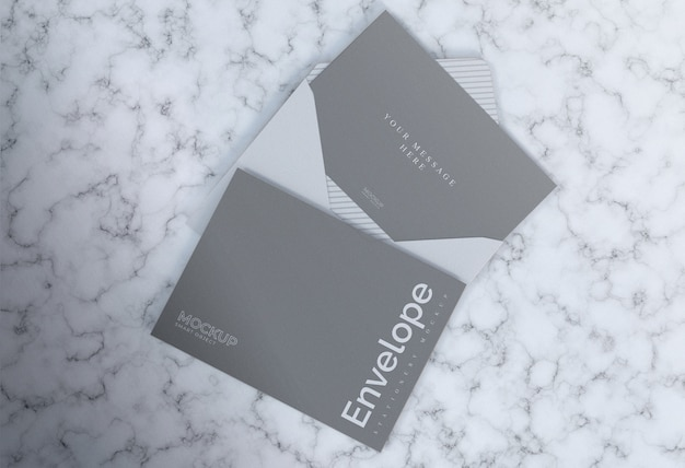 Maquete de mármore envelope cinza