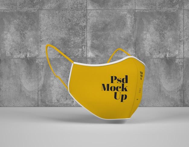 Maquete de máscara cirúrgica Psd Premium