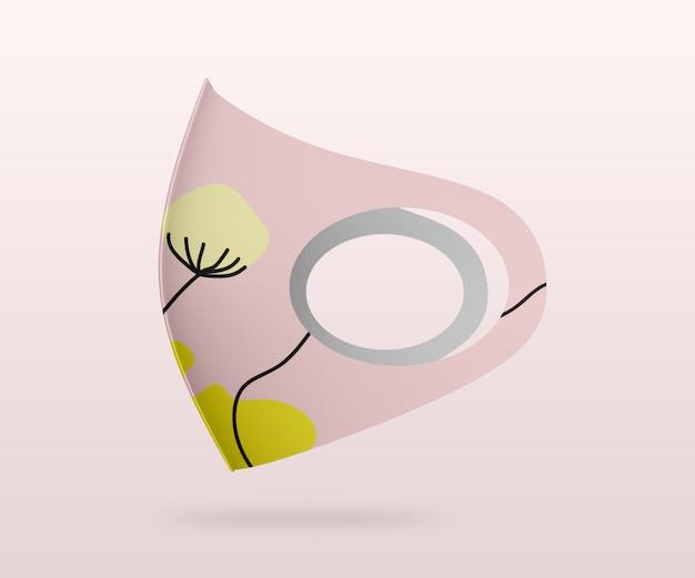 Maquete de máscara de tecido de mergulho