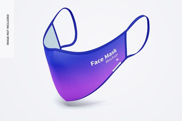 Maquete de máscara facial 03