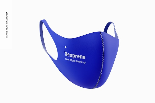 Maquete de máscara facial de proteção de neoprene