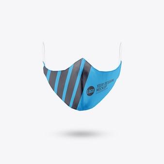 Maquete de máscara facial médica isolada