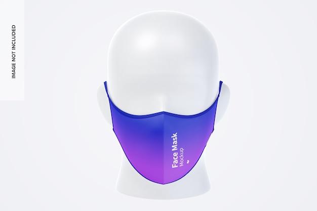 Maquete de máscara facial