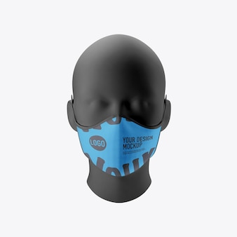 Maquete de máscara médica rosto isolado no fundo branco
