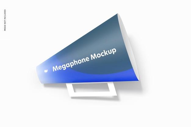 Maquete de megafone de papel