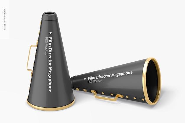 Maquete de megafones do diretor de cinema