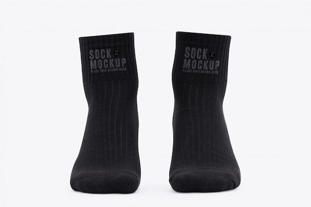 Maquete de meias pretas em branco