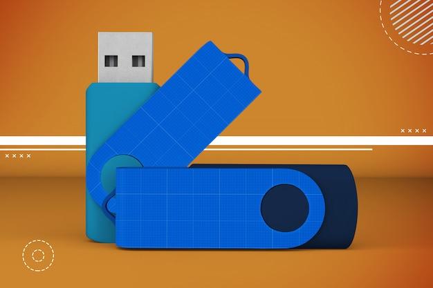 Maquete de memória flash abstrata