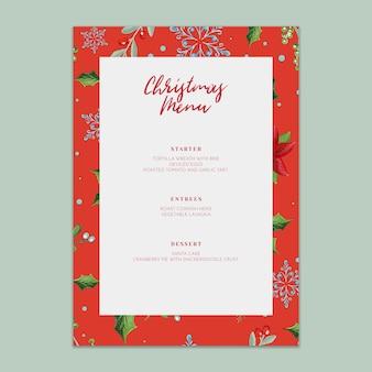 Maquete de menu de natal