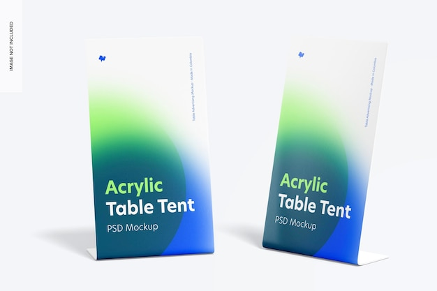 Maquete de mesa acrílica para tendas