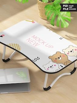Maquete de mesa de estudo