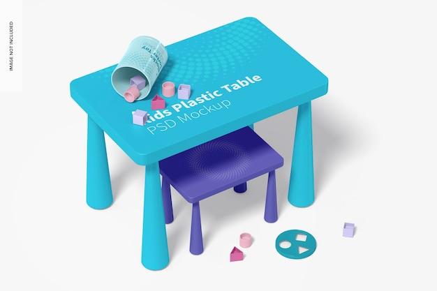 Maquete de mesa infantil de plástico