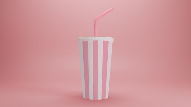 Maquete de milk-shake realista