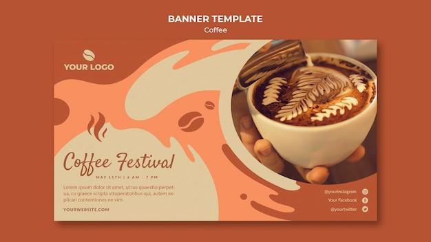 Maquete de modelo de banner conceito café