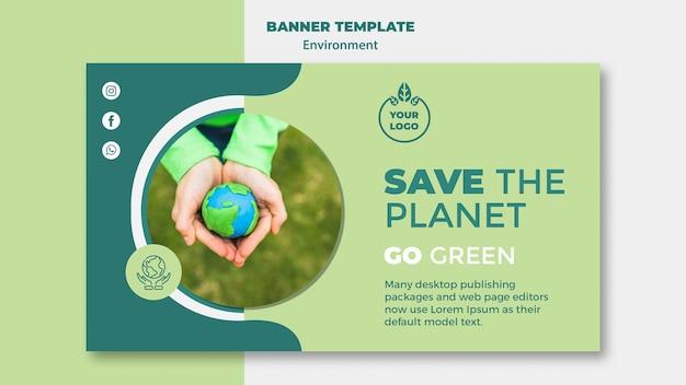 Maquete de modelo de banner de ambiente