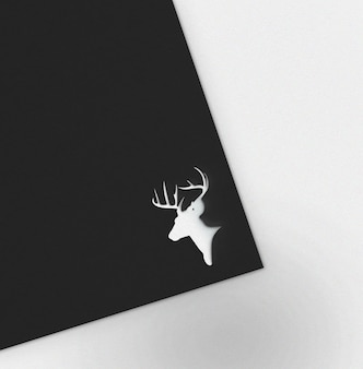 Maquete de modelo de logotipo minimalista em folha de papel preto
