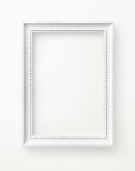 Maquete de moldura branca