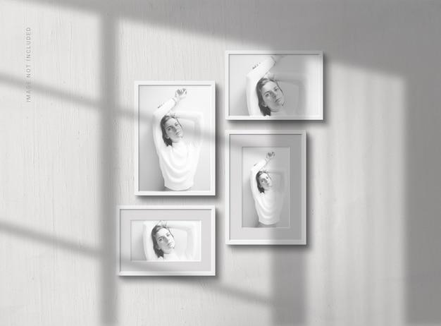 Maquete de moldura de foto com sombra elegante